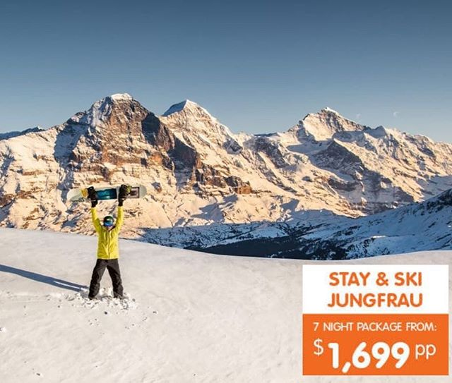🏂Jungfrau is calling⛷️ Sitting on top of Europe you will discover one of Switzerland's most beautiful mountain resorts Jungfrau is a skier's and snowboarder's playground with breathtaking terrain and incredible views of the surrounding regions. Explore over 250 kms of beautifully prepared runs suitable for all levels ❄️