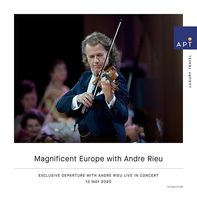 MAGNIFICENT EUROPE 15 DAY RIVER CRUISE INCLUDING ANDRE RIEU LIVE IN CONCERT IN COLOGNE!  FROM $9895*pp including FLY FREE* ✈️ Departs 13 May 2020  Amsterdam to Budapest  Earn 1 Qantas points per $1 spent on APT holidays that include a Luxury River Cruise  T&C's apply  Contact KCM Travel 9439 9666 or info@kcmtravel.com.au