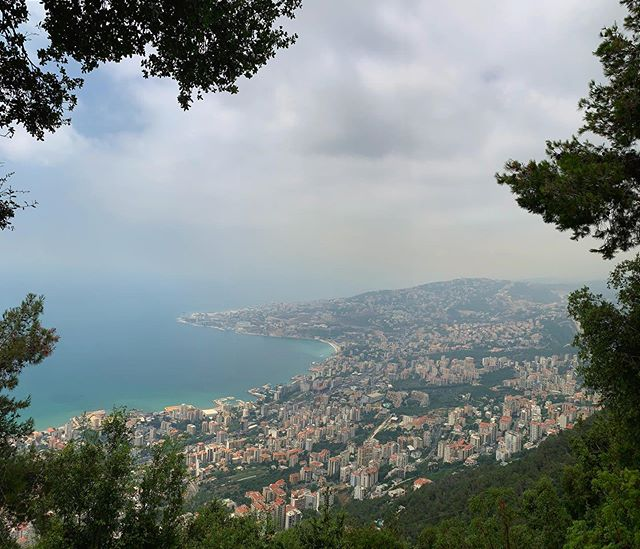 Our Lady of Lebanon's view of Jouneh Bay♥️🌿 #touristing #harissa #bhebakyalebnan #postcardsfromlebanon