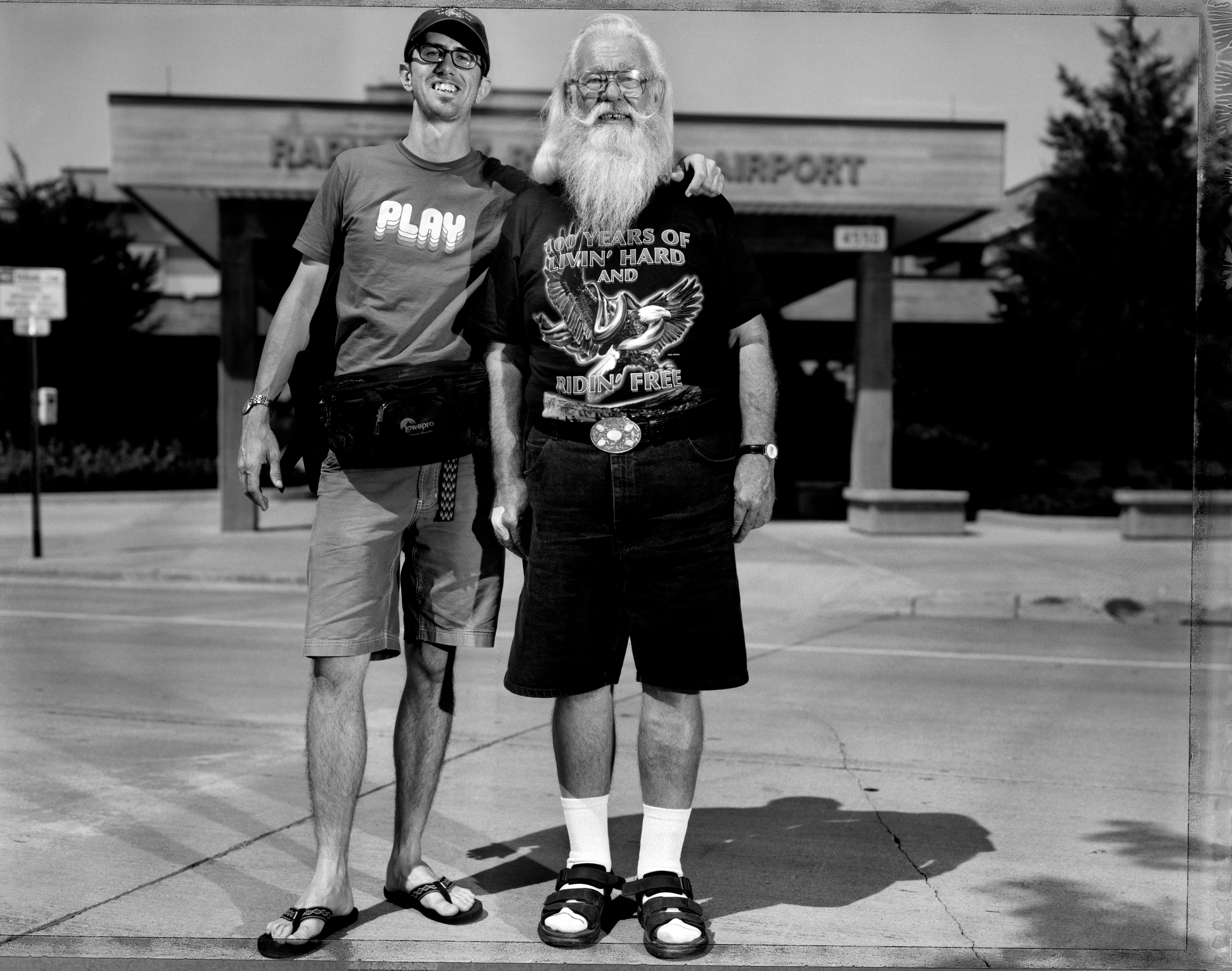 My dad, assisting me at the Sturgis Motorcycle Rally