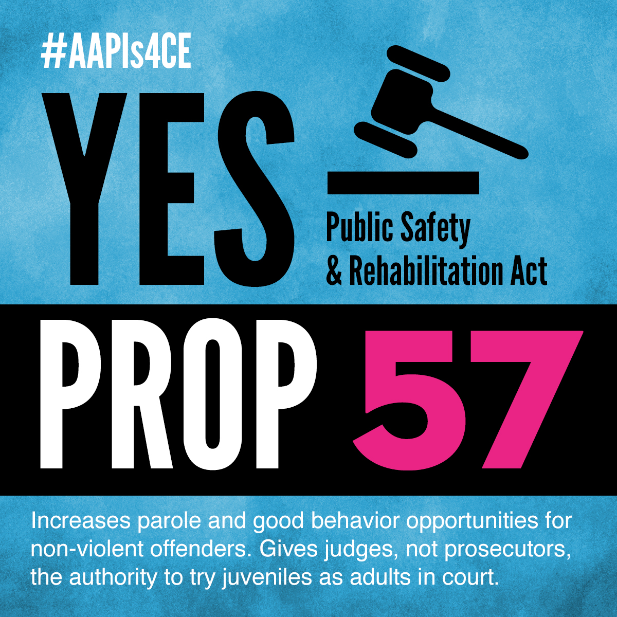 Yes on Proposition 57: Public Safety & Rehabilitation Act