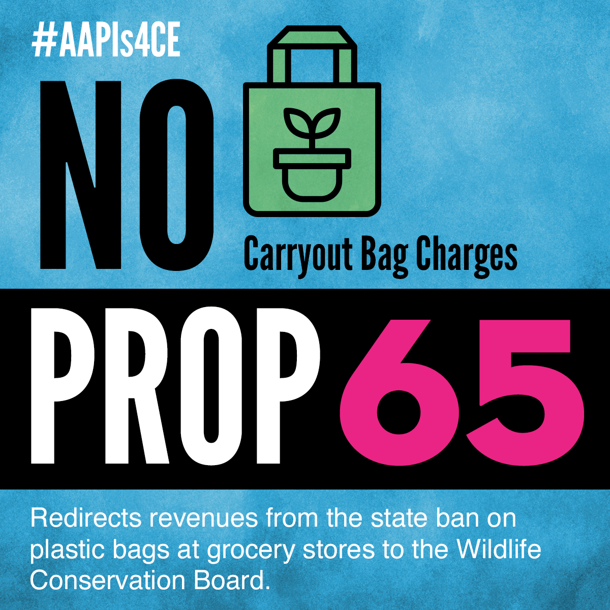 No on Proposition 65: Plastic Bag Fee