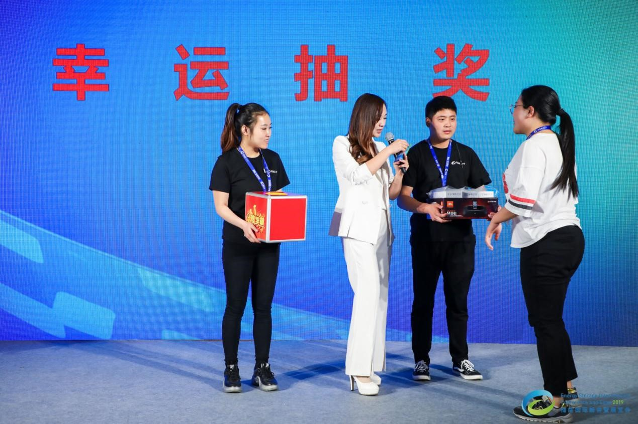 Contestants participate in the expo hall prize drawing