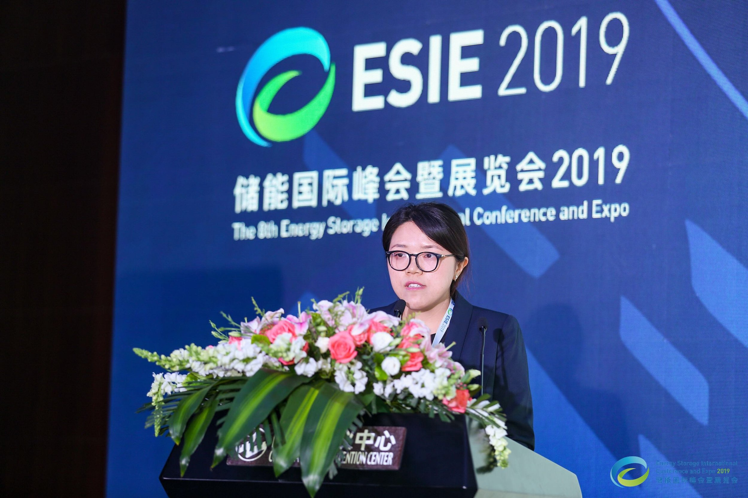 China Energy Storage Alliance Research Department Director Yue Fen Presents on the CNESA Energy Storage White Paper 2019
