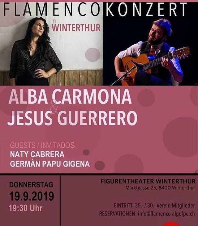 Heute : super Konzert in Winterthur. Alba Carmona und Jesús Guerrero  #flamenco #winterthur #kunst #musik #tanz #gesang #gitarre #percussion #theater #figurentheater #marktgasse #winthi #noche #flamenca #osesperamos #vamosquenosvamos