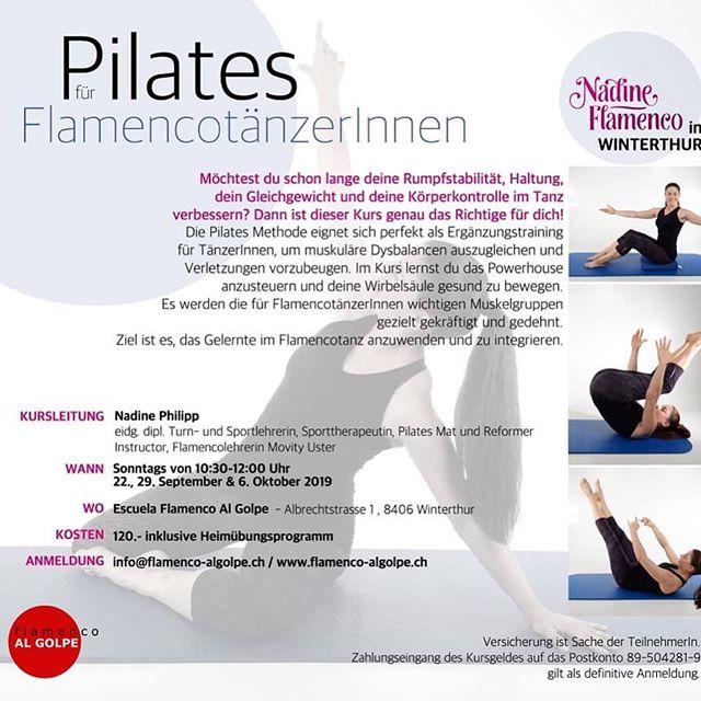 Sonntags morgen gibt es nichts besseres ;) #pilates #flamenco #bailaoras #winterthur #fit #movimento #consciente #vamosquenosvamos