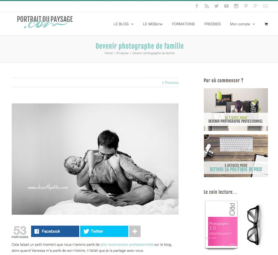 Portrait ou Paysage - Interview Objectif Petits, Photographe de bébés, enfants et familles à Brest