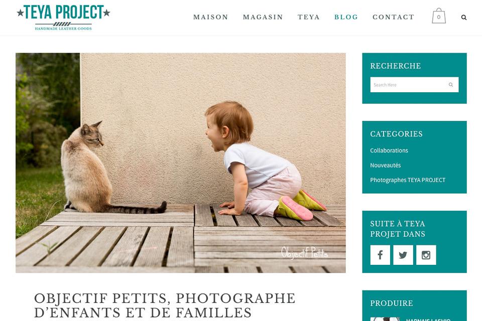 Objectif Petits - Photographe Enfants Familles à Brest - Interview sur le blog de Teya Project