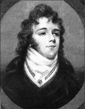 George Bryan (Beau) Brummell–engraving from miniature portrait