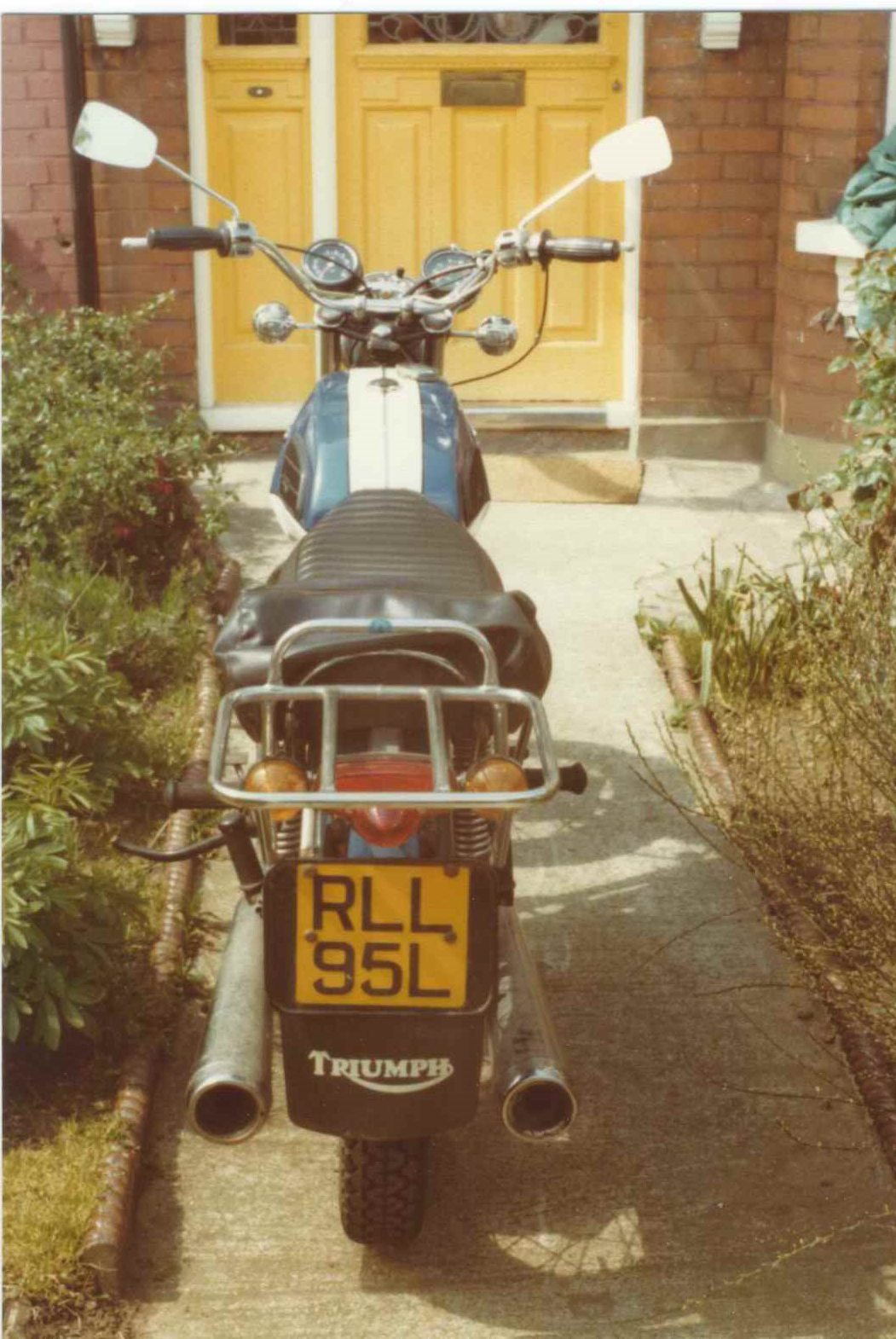 Dad's Triumph Tiger 650
