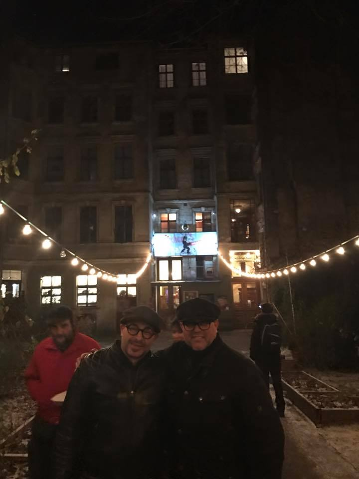 Pierre & I outside Clärchens Ballhaus