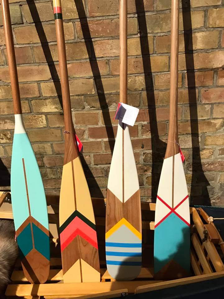 Norquay Co hand painted oars, so good you just want them.