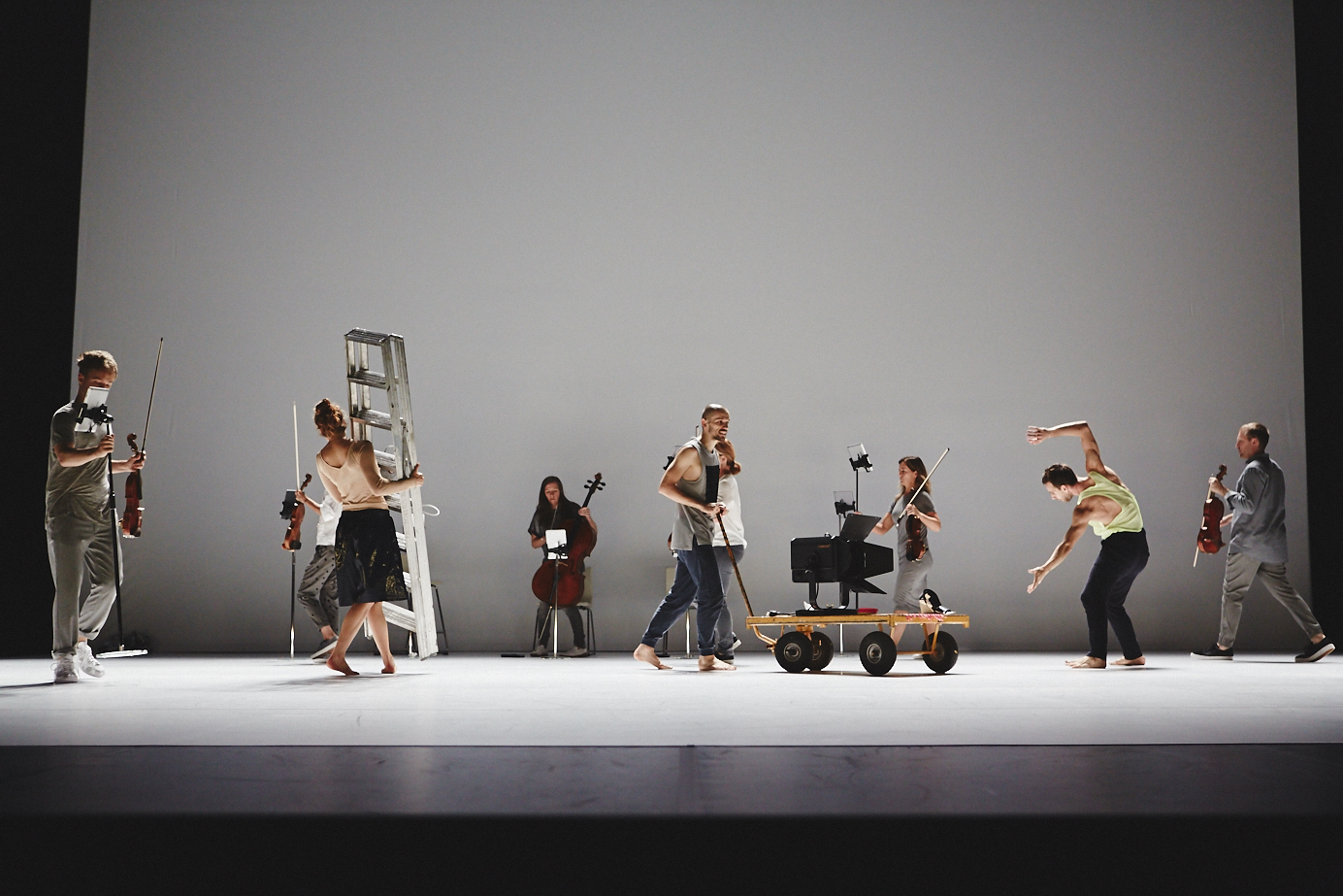 "Andersson Dance and the Scottish Ensemble in ""Goldberg variations - ternary patterns for insomnia"" out on tour. Photo: Hugh Carswell"