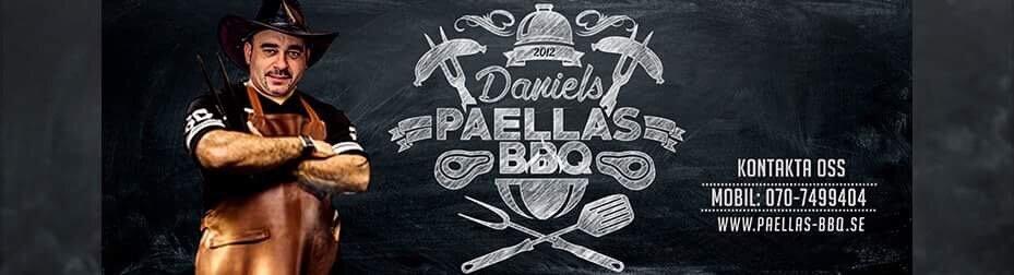 Daniels Paellas & BBQ - Daniels Paellas & BBQ är ett event företag som tillagar mat med närproducerat kött, färska skaldjur och använder alltid färska och de bästa råvaror till våra catering. Daniel var deltagare på programmet Grillmästarna 2016 på TV4 som tog 4e plats hem. Vi är störst i Sverige med paella bland annat vi erbjuder i våra tjänster. www.paellas-bbq.se