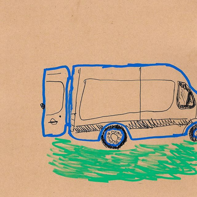the delivery van #collage #graphicdesign #illustration