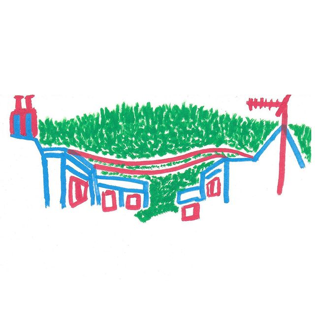 Village skyline #illustrator #illustration #minimalism