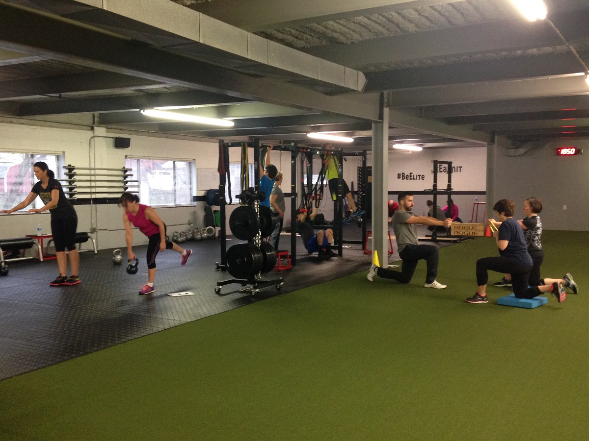 Irondurance athletes taking part in a variety of resistance exercises
