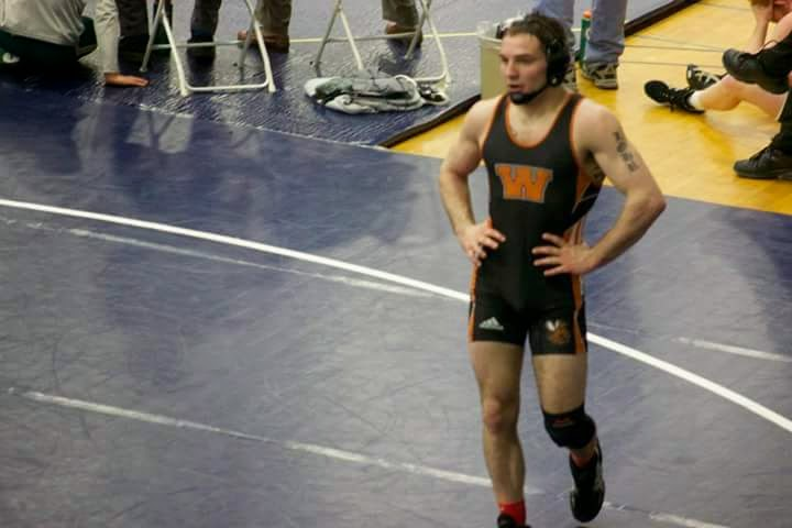 - Luke wrestling in the 149lb weight class at the Mideast Regional tournament where he qualified for the NCAA division 3 championships in March 2015.
