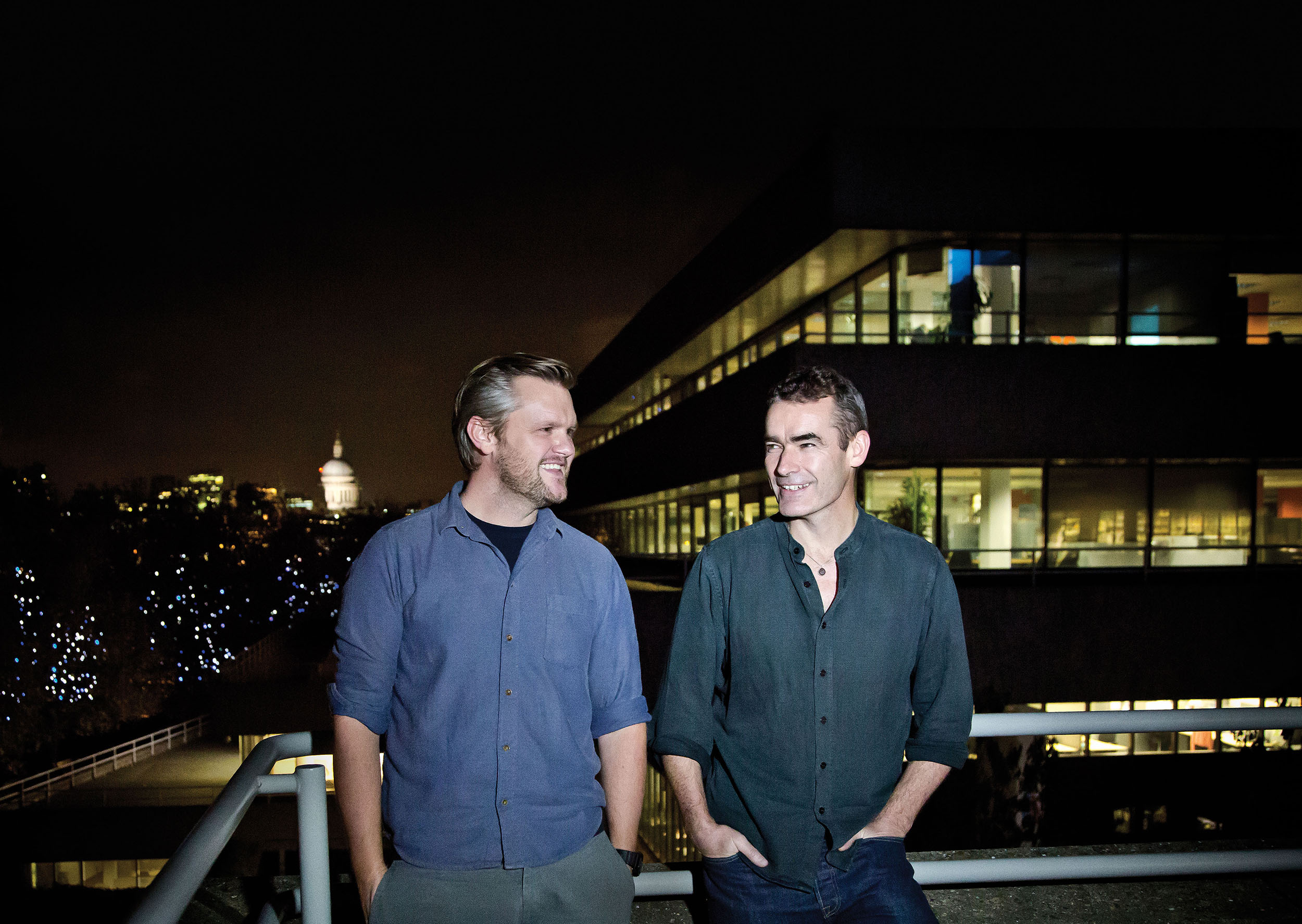 Ben Roberts  Director of the BFI Film Fund  with   Rufus Norris  Artistic Director of the National Theatre