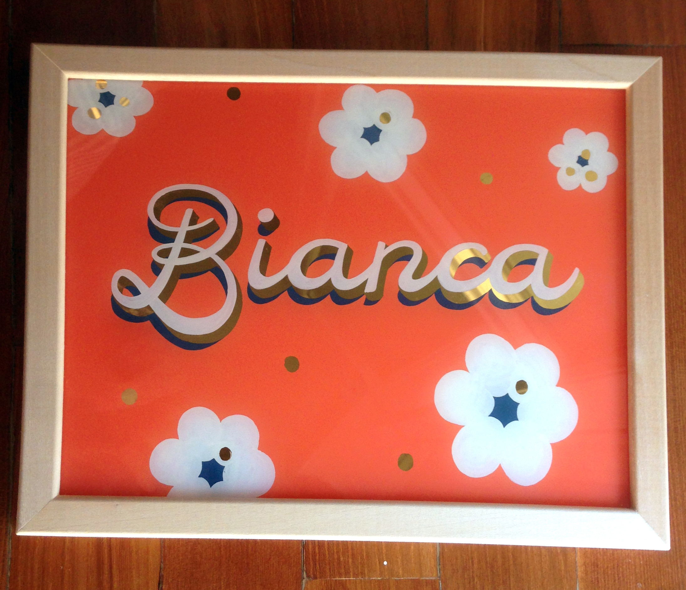 Bianca: Glass Gilding, Lettering, Vergoldung, Hinterglasmalerei, Schriftmalerei