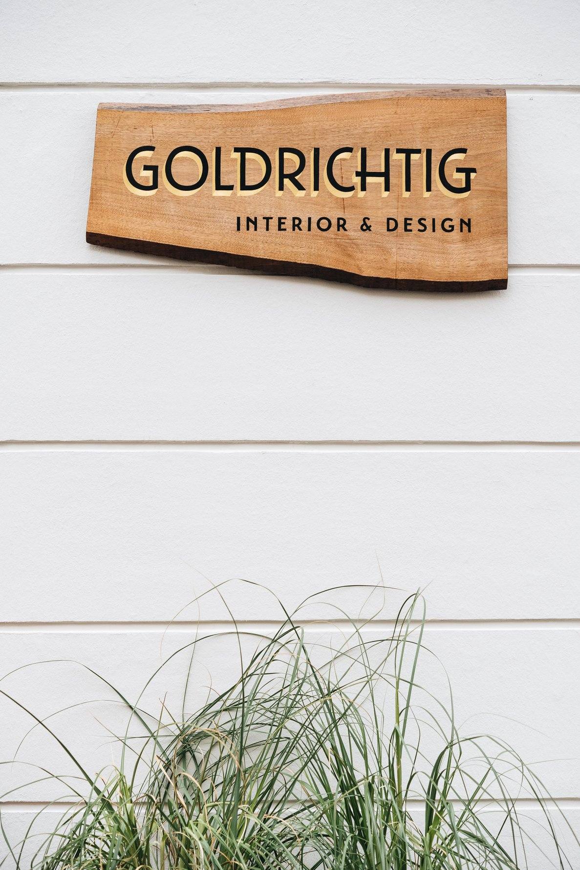 Holzschild für Goldrichtig / Wooden Sign for Goldrichtig