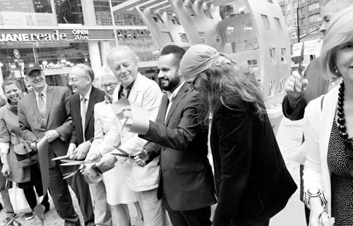 Don Gummer (center) at Ribbon Cutting Ceremony