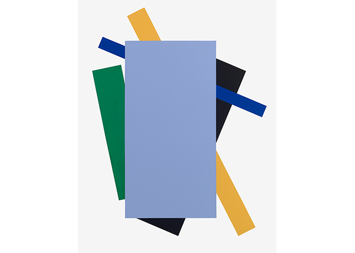 Blue Launch,  1975 Acrylic on canvas 64.25 x 50 inches