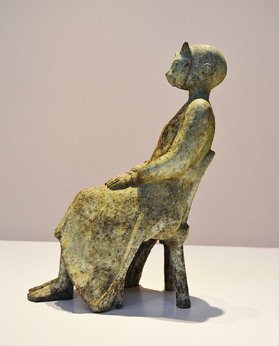 Cat Faced Woman,  2005 Bronze, edition of 8 15.5 x 10 x 8 inches