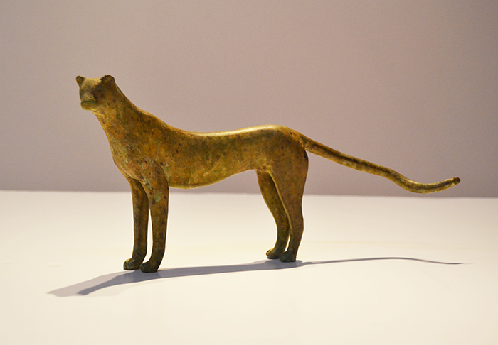 Standing Cheetah Maquette,  2012 Bronze, edition of 9 6.25 x 13.25 x 3.25 inches