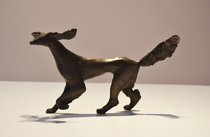 Running Saluki Maquette   Bronze, edition of 6 5.5 x 10 x 3.5 inches