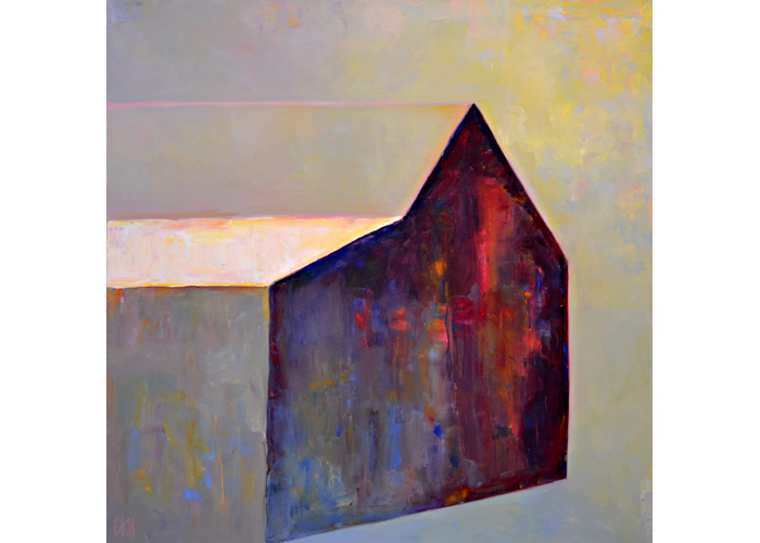 Floating Barn,  2006 Oil on canvas 36 x 36 inches