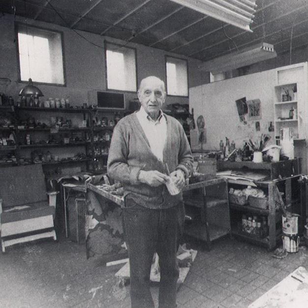 New York School painter George McNeil in his studio