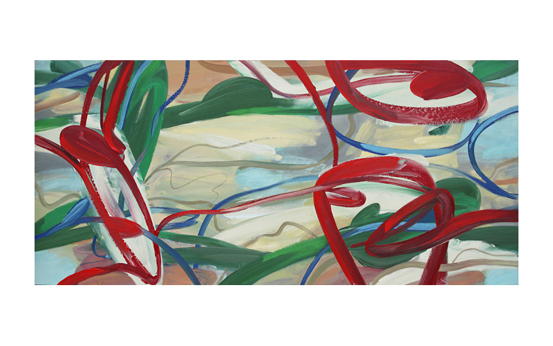 Far and Away,  2011 Oil on canvas 40 x 90 inches