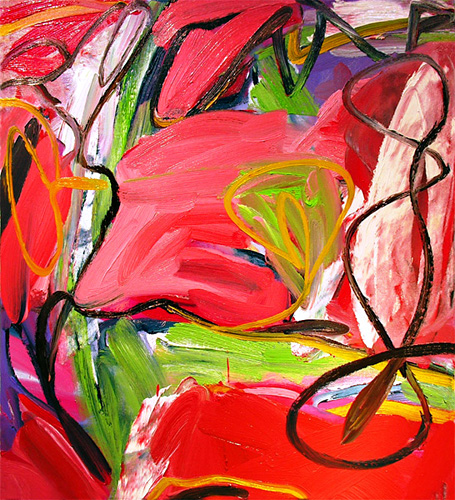 In the Budding Spring,  2009 Oil on canvas 40 x 36 inches
