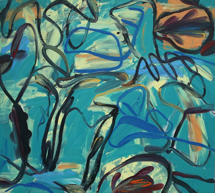 Summer Chorus,  2011 Oil on canvas 70 x 78 inches