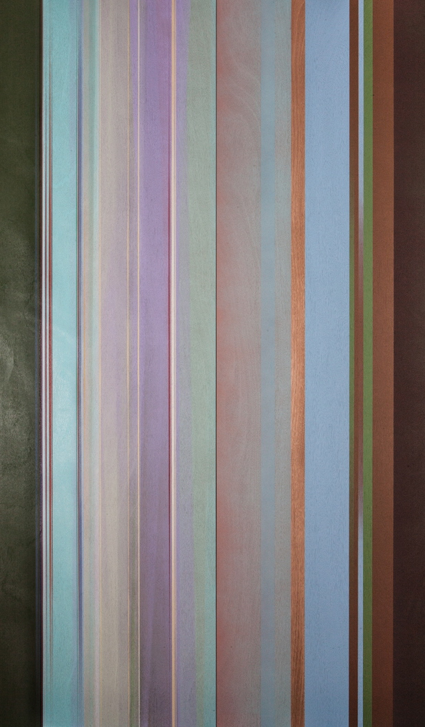 The Cimmerian Legend of Baby Blue,  2013 Lacquer on birch 80 x 48 inches