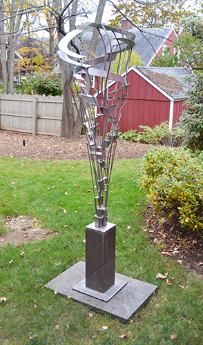 Anniversary,  2002 Stainless steel, bronze base Unique 68 x 23 x 24 inches