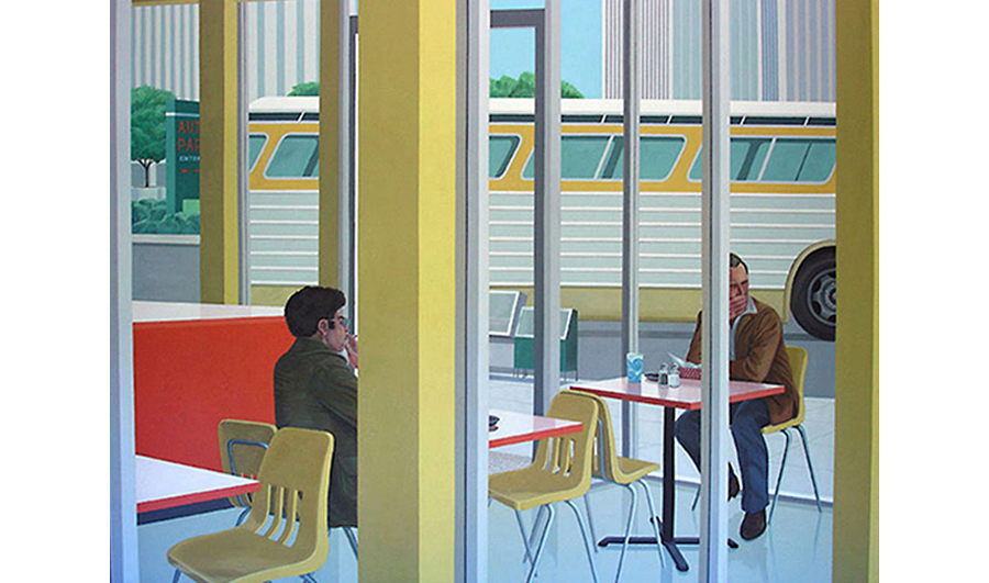 One Last Smoke,  1980 Acrylic on canvas 72 x 108 inches