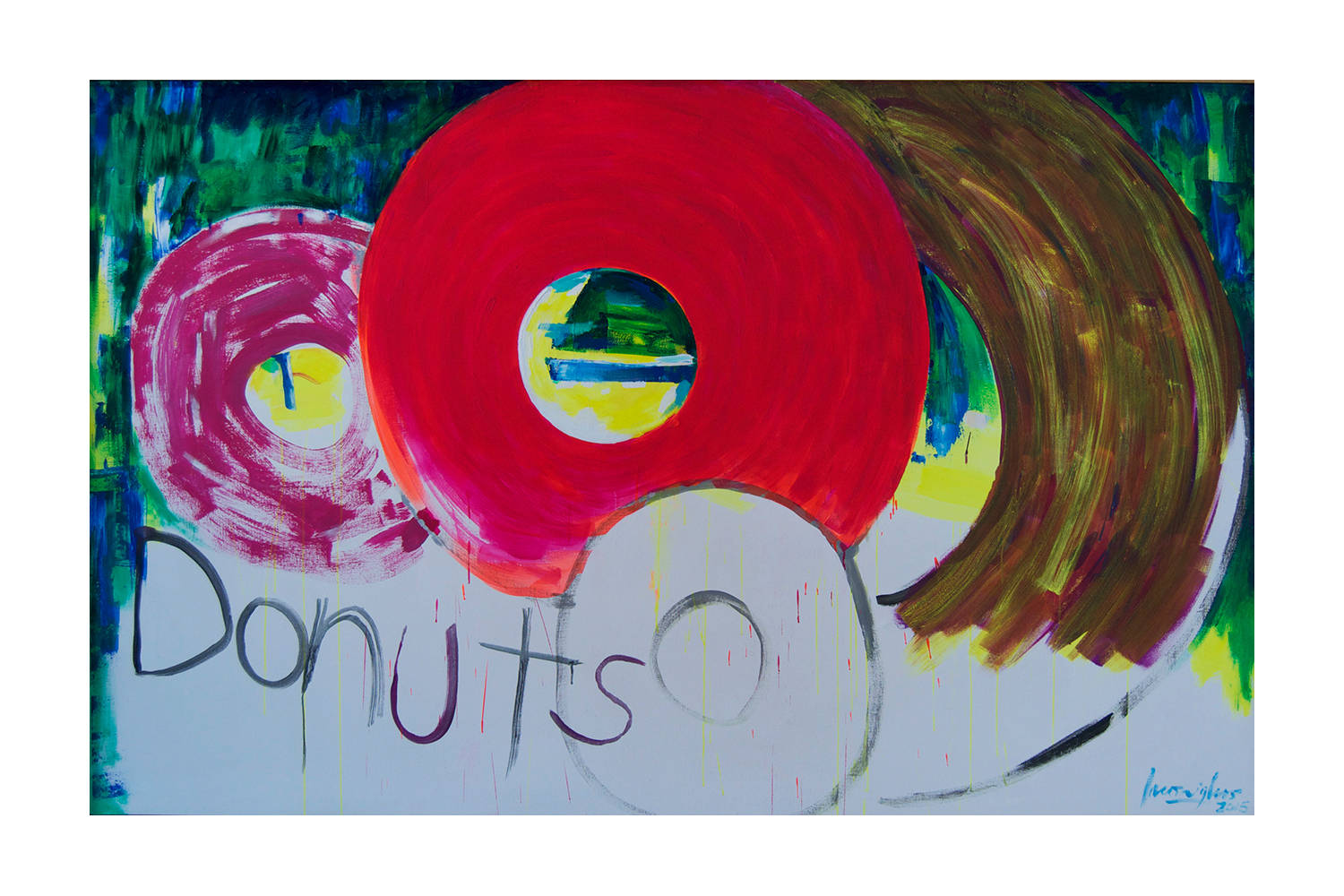 From the Donut Series,  2015 Acrylic on canvas 72 x 108 inches