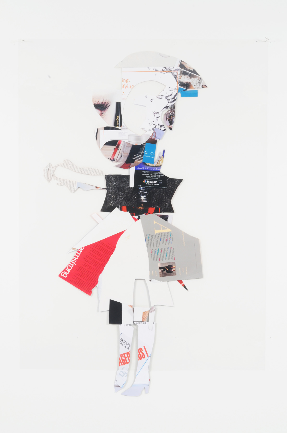 Alice (Back),  2008-209 Collage on acetate 44 x 30 inches