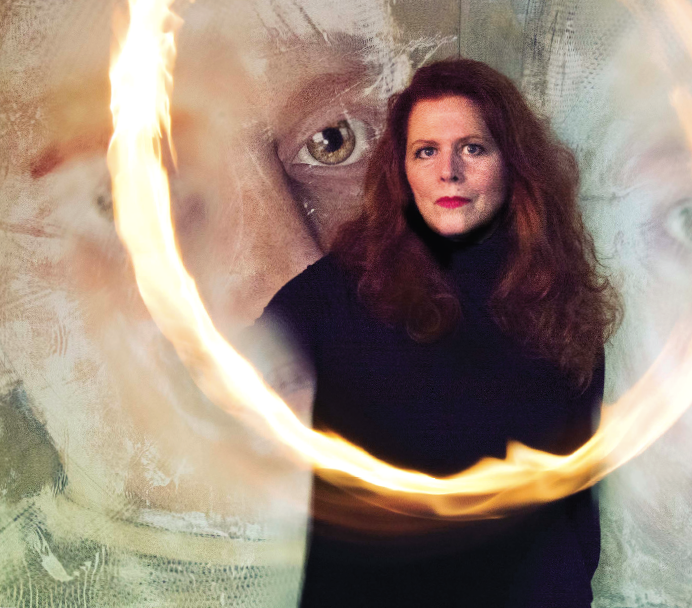 Portrait of Sandra Filippucci by Audrey Durell 2015, Santa Fe