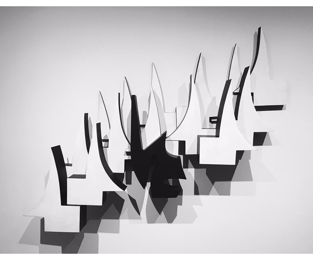 George Sugarman,  Untitled , 1988, painted aluminum, 38 x 52 x 7 inches