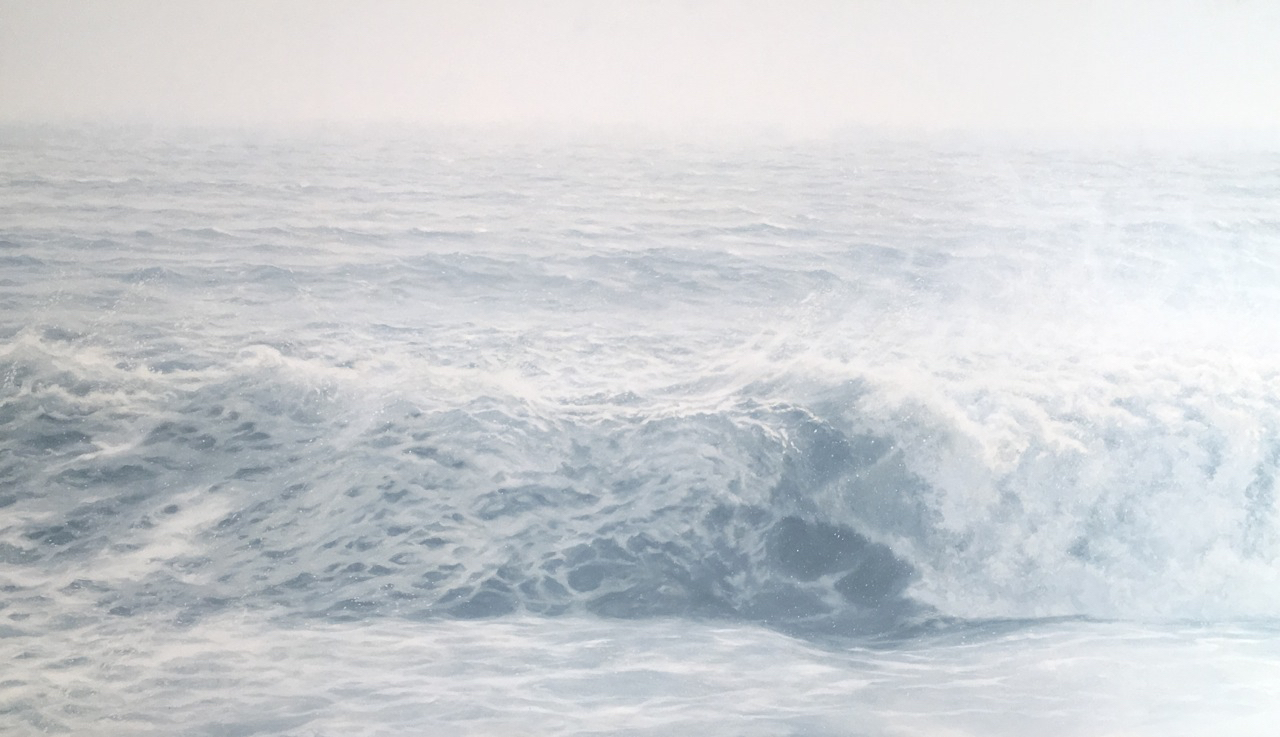 Chris Armstrong,  Roller, 2016, oil on aluminum, 34 x 58 inches