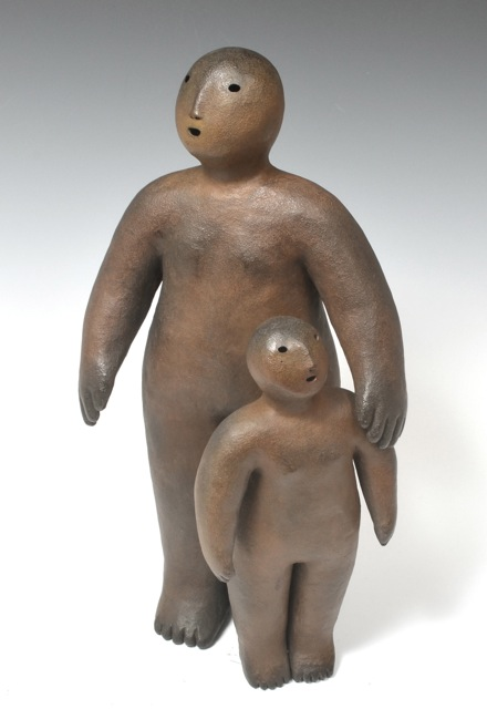 two together  bronze 15 x 9 x 9 inches