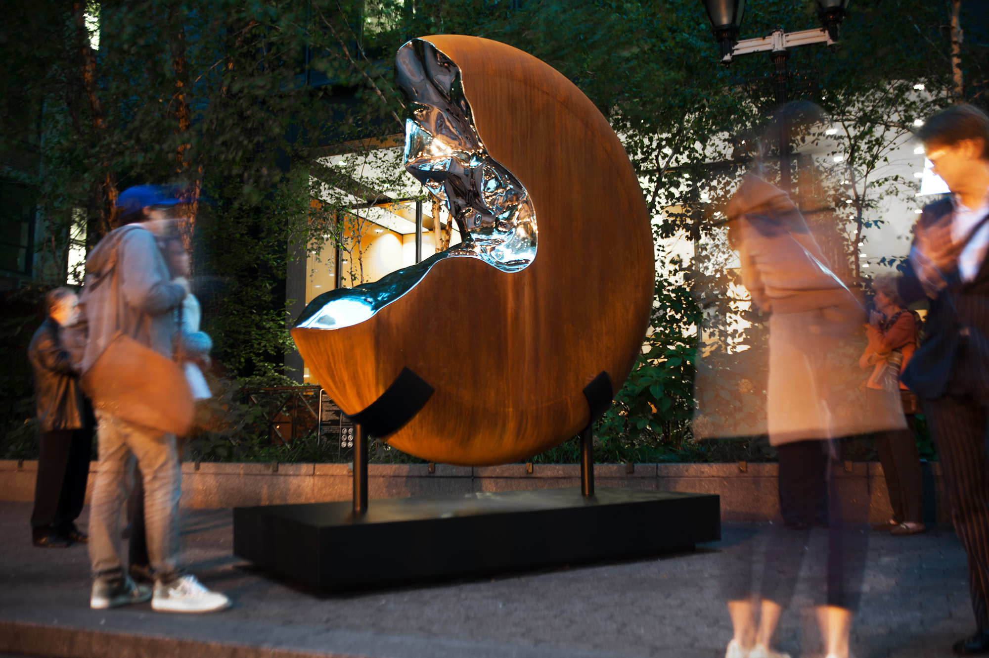 G2V,  2012 CorTen and mirror polished marine grade stainless steel 114 x 96 x 48 inches