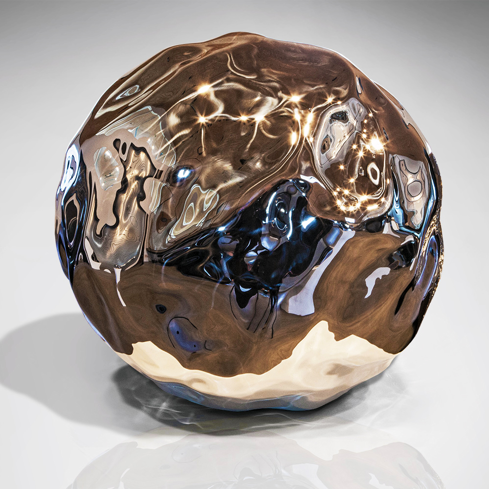 Mantle , 2014 Mirror polished marine grade stainless steel 19 x 19 x 19 inches
