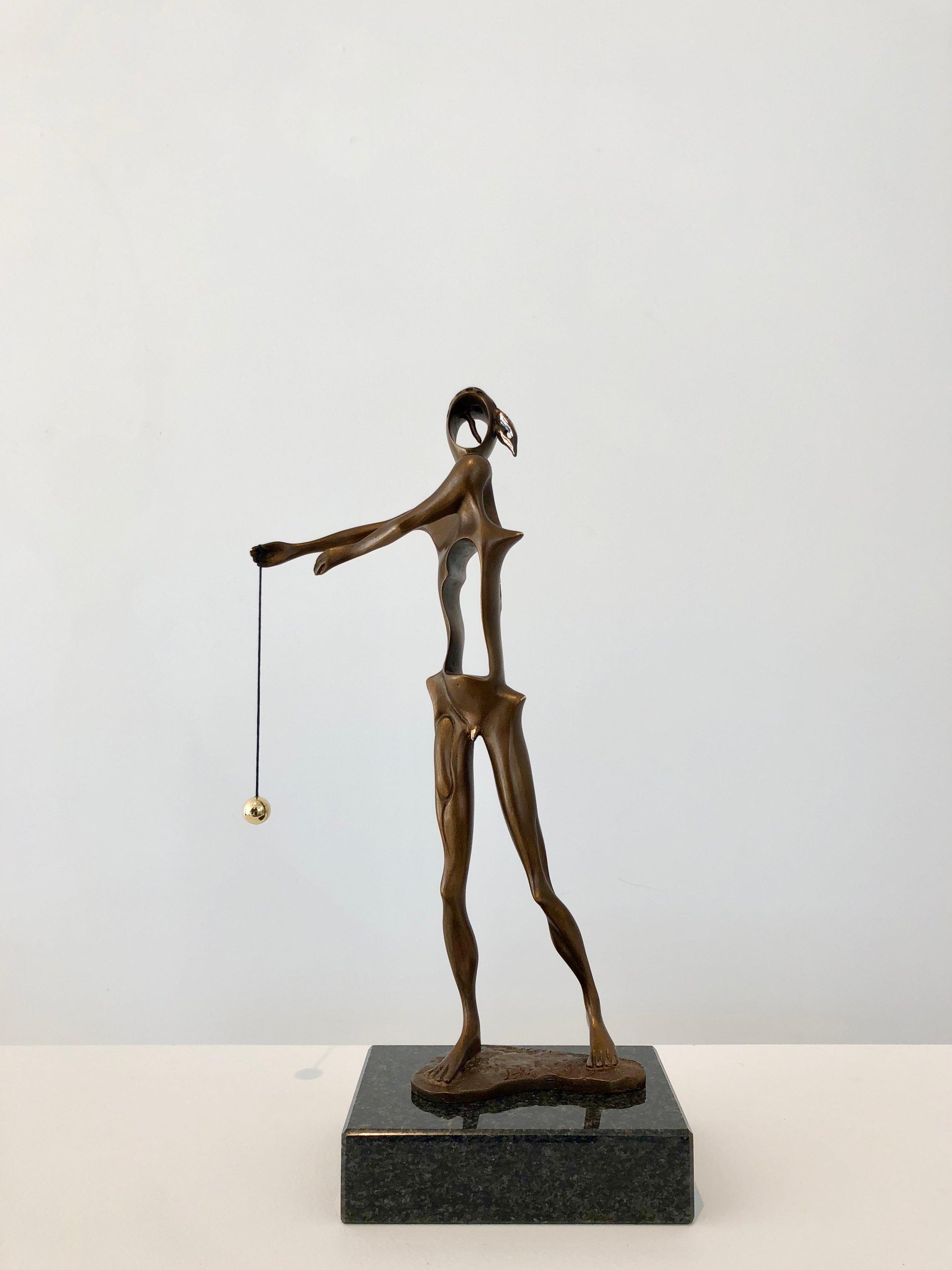 Homage to Newton , 1980 Bronze 13 99/127h x 4 42/127w x 6 13/127d in