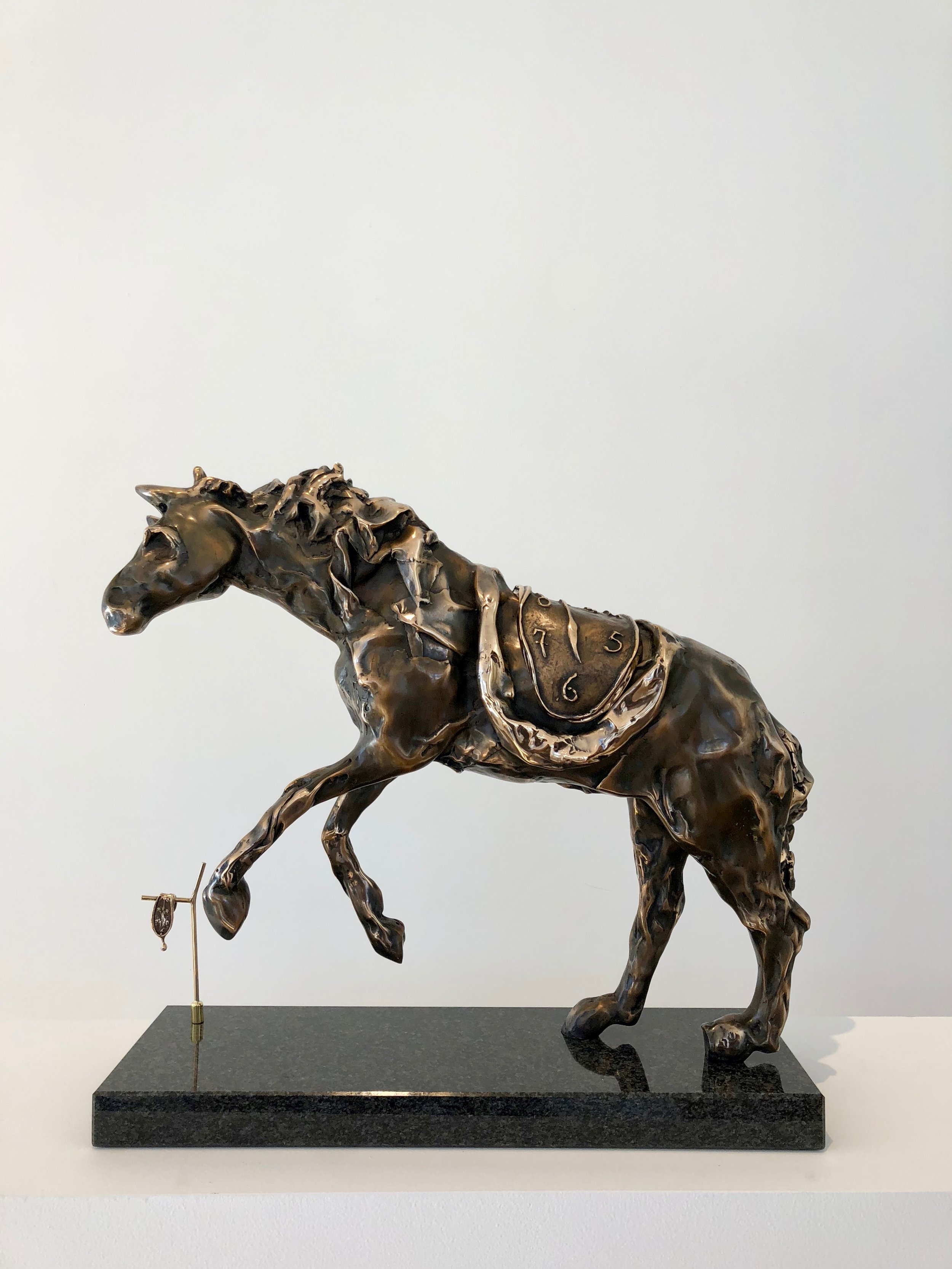 Horse Saddled with Time , 1980 Bronze 17 41/127h x 6 88/127w x 20 60/127d inches