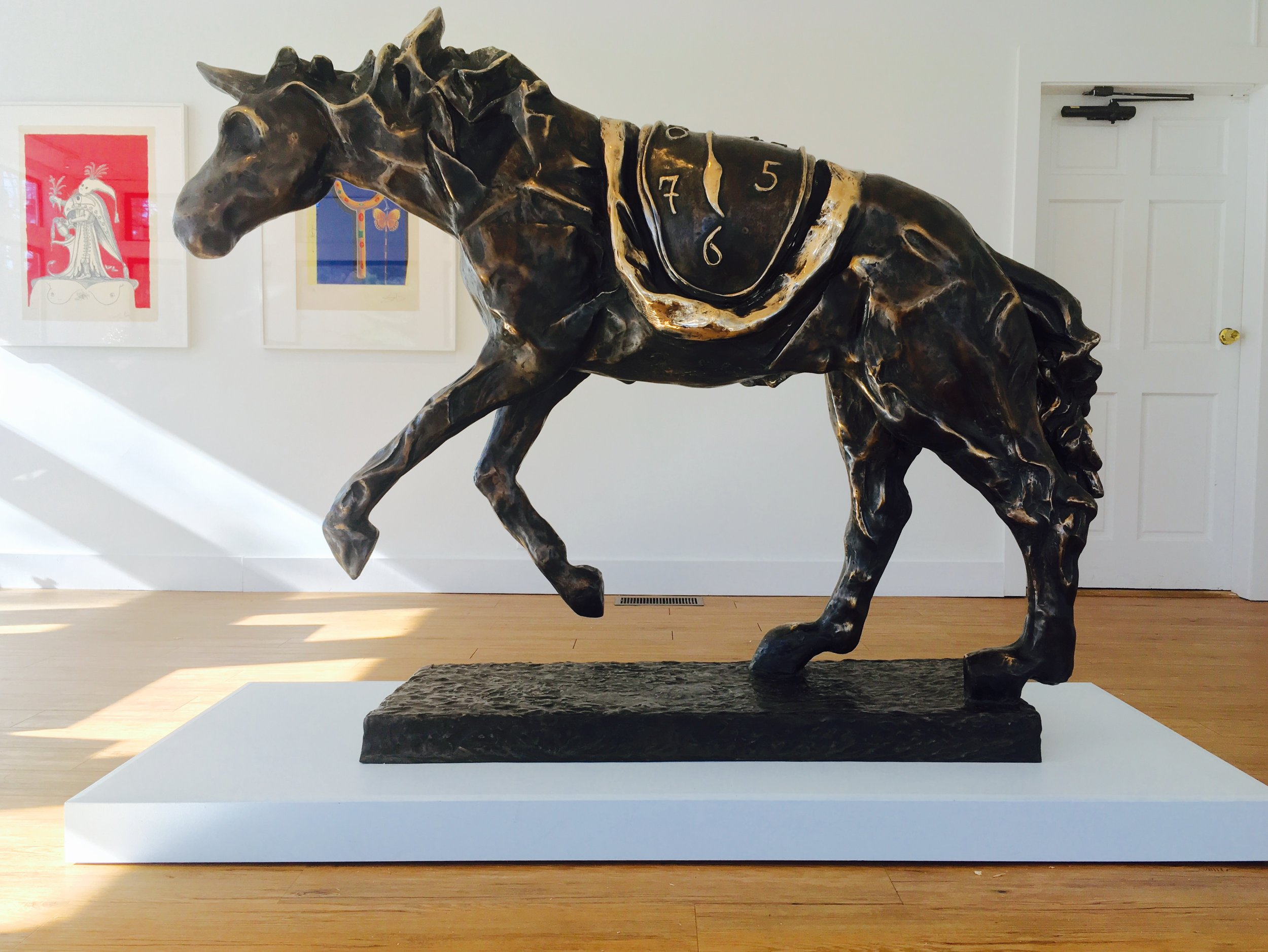 Horse Saddled with Time , 1980 Bronze 56 88/127h x 46 58/127w x 17 91/127d inches