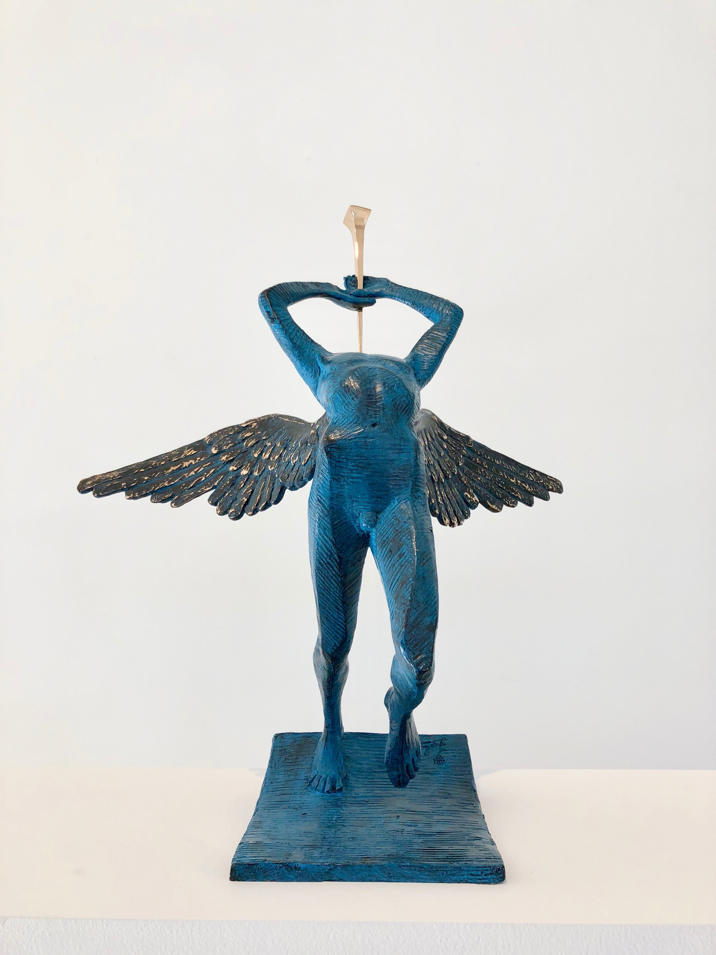 Triumphant Angel , 1976-1984 Bronze 19 87/127h x 6 63/127w x 7 11/127d inches